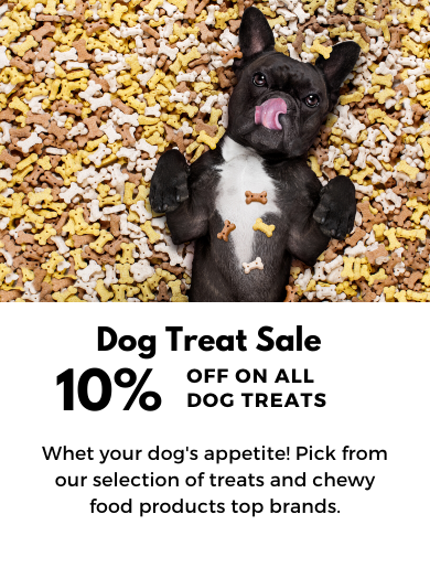 10% OFF ON ALL DOG TREATS