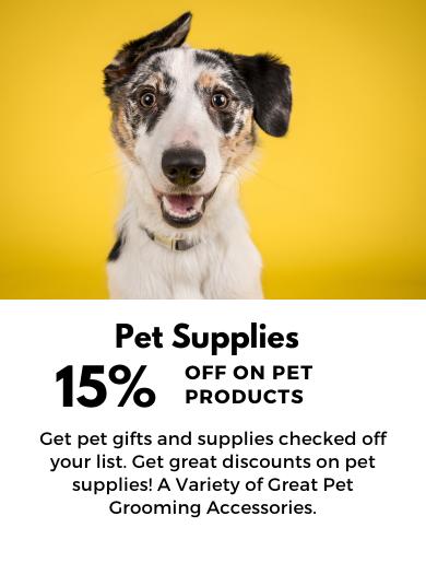 15% OFF DOG SUPPLIES